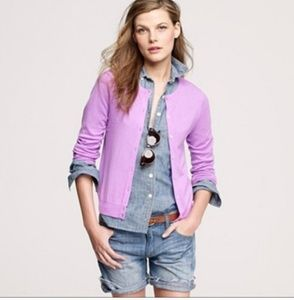 J. Crew Lavendar Jackie Cardigan for sale